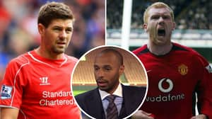 Thierry Henry Asked Who Is Better Out Of Paul Scholes And Steven Gerrard