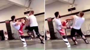 Justin Gaethje Eats Brutal Head Kick Like 'Real Life Terminator' In Sparring Ahead Of Khabib Nurmagomedov Fight At UFC 254