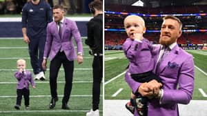 Conor McGregor And His Son Look Great In Matching Suits At Super Bowl LIII
