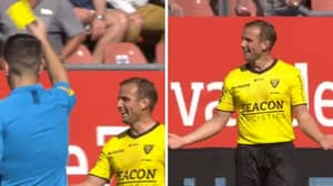 Lee Cattermole Gets Booked With First Ever Foul In The Eredivise
