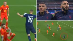 Video Of Karim Benzema's France Comeback Shows His Telepathic Link-Up Play With Kylian Mbappe