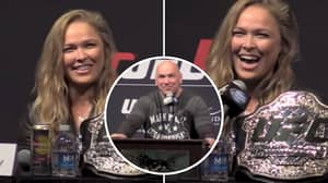 Ronda Rousey And Dana White's Hilarious Reactions To Her Getting Hit On At UFC Press Conference