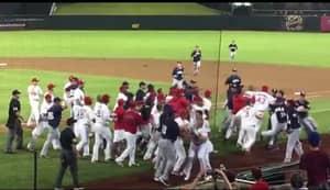 WATCH: 30 Man Brawl At Baseball Game