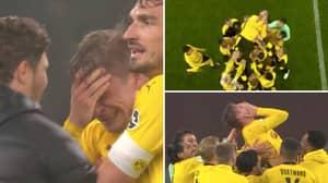 Borussia Dortmund Legend Lukasz Piszczek In Floods Of Tears After Winning DFB-Pokal Final