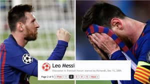 Fans Label Lionel Messi 'Overrated' And 'Overhyped' In Thread From 2005
