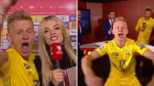 Oleksandr Zinchenko's Celebrations After Ukraine Confirmed Euro 2020 Qualification Are Brilliant