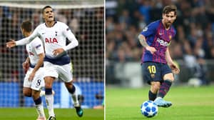 Lamela Gets An Incredible Gift From Lionel Messi After Barcelona-Spurs Match