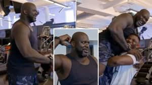 UFC Star Francis Ngannou Shows His Frightening Strength By Manhandling NBA Legend Shaquille O'Neal