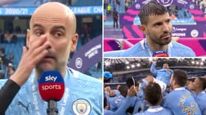 Pep Guardiola Breaks Down In Tears During Emotional Tribute Over Sergio Aguero's Man City Exit