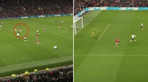 Bruno Fernandes Produces Sublime Outside-Of-The-Boot Assist For Marcus Rashford