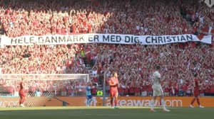 Denmark And Belgium Kick The Ball Out To Pay Tribute To Christian Eriksen