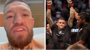 Conor McGregor Slams Dustin Poirier For 'Celebrating Illegitimate Win' In First Video Since Surgery