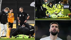 Rui Patricio Receives Blow To The Head During Wolves Vs Liverpool