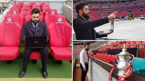 Man Takes Laptop To Wembley So He Can Play FA Cup Final On Football Manager