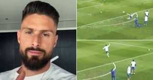 Olivier Giroud Scores Absolutely World-Class Volley In Training And Shares on TikTok