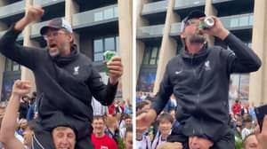 'Jurgen Klopp' Sings 'It's Coming Home' While Celebrating With England Fans