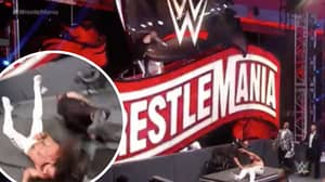Kevin Owens Jumps From WrestleMania Sign In Match Against Seth Rollins