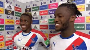 The Awkward Moment Wilfried Zaha Gets Told He's Not MOTM Despite Brace