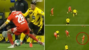 Jadon Sancho Pulled Off A Beautiful Nutmeg Against Union Berlin