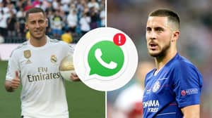 Eden Hazard Said Goodbye To His Chelsea Teammates, Then Left The Whatsapp Group