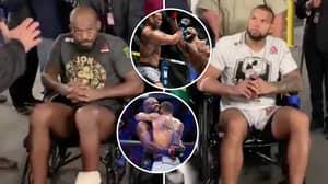 Jon Jones And Thiago Santos Both Left UFC 239 In Wheelchairs After Their Epic Clash