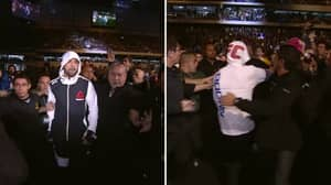 When Matt Brown Was Attacked By Fans On The Way To The Octagon
