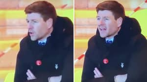 "Steven Gerrard Appeared To Call Someone A ""F*****g Ballbag' During Rangers Game Last Night"