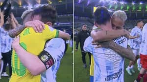 Neymar Congratulated Lionel Messi In Touching Embrace After Copa America Final
