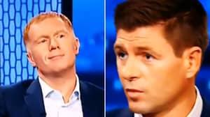 Paul Scholes' Priceless Reaction To Steven Gerrard Saying He Never Won The Premier League On Live TV