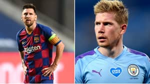 Kevin De Bruyne Reacts To Lionel Messi Deciding To Stay At Barcelona Amid Manchester City Transfer Interest