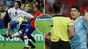 Luis Suarez Appealed For Jara To Be Shown A Card After He Tackled Pitch Invader