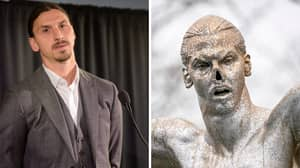 Zlatan Ibrahimovic's Statue In Malmo Has Had The Nose Cut Off