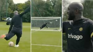 Romelu Lukaku's Message To Chelsea Players After Training Worldie Proves Just How Confident He Is