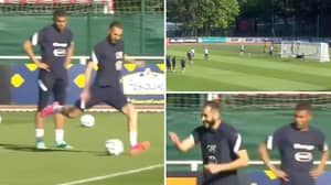Kylian Mbappe In A State Of Shock After Watching Karim Benzema's Shooting Drill In France Training