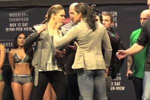Ronda Rousey Storms Off Stage After Stare Down With Amanda Nunes