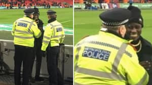 The Picture Of Benjamin Mendy And Two Police Officers Has Funny Story Behind It