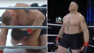 Brock Lesnar's MMA Debut Was So Brutal His Opponent Tapped Out To Strikes