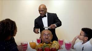 Mike Tyson 'Eats Roy Jones Jr's Head' In Bizarre Thanksgiving Video