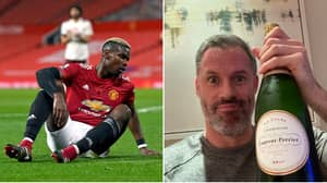 Jamie Carragher Ruthlessly Trolls Gary Neville After Manchester United Lose To Arsenal