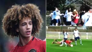 Manchester United Youngster Hannibal Mejbri Has Hair Pulled In Extremely Dirty Game