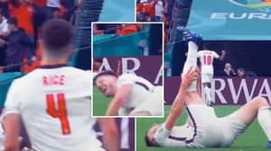 Declan Rice Proved He's Captain Material After Collapsing While Celebrating During England vs Germany