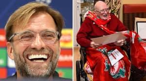 104-Year-Old Liverpool Superfan Gets An Amazing Birthday Gift From Jurgen Klopp