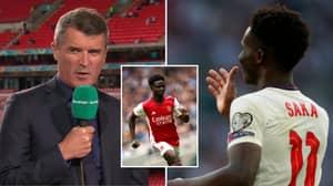 """Roy Keane Says He Hopes Bukayo Saka Enjoyed England Win Because """"He's Not Getting Any At Club Level"""""""