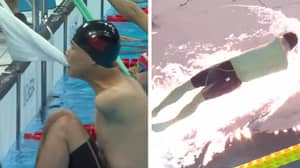 Superhuman Swimmer With No Arms Shatters His Own Record In Paralympics Backstroke Final