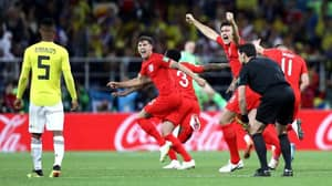John Stones And Harry Maguire Celebrating In Front Of Wilmar Barrios Is The Photo Of The World Cup