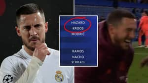 Eden Hazard Was Genuinely Real Madrid's Hardest-Working Player During Defeat To Chelsea
