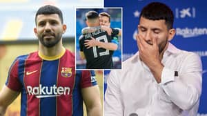'Furious' Sergio Aguero Wants To Leave Barcelona After 37 Days Because Of Lionel Messi