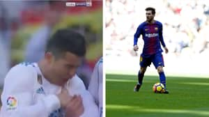 Fans Were Loving Lionel Messi's Free Kick Hitting Cristiano Ronaldo