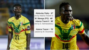 Adama Traore Replaced Adama Traore In Mali vs Mauritania Game, Both Were On The Scoresheet