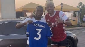 Leicester City Star Wesley Fofana Posts Statement After Being Spotted Wearing Arsenal Shirt